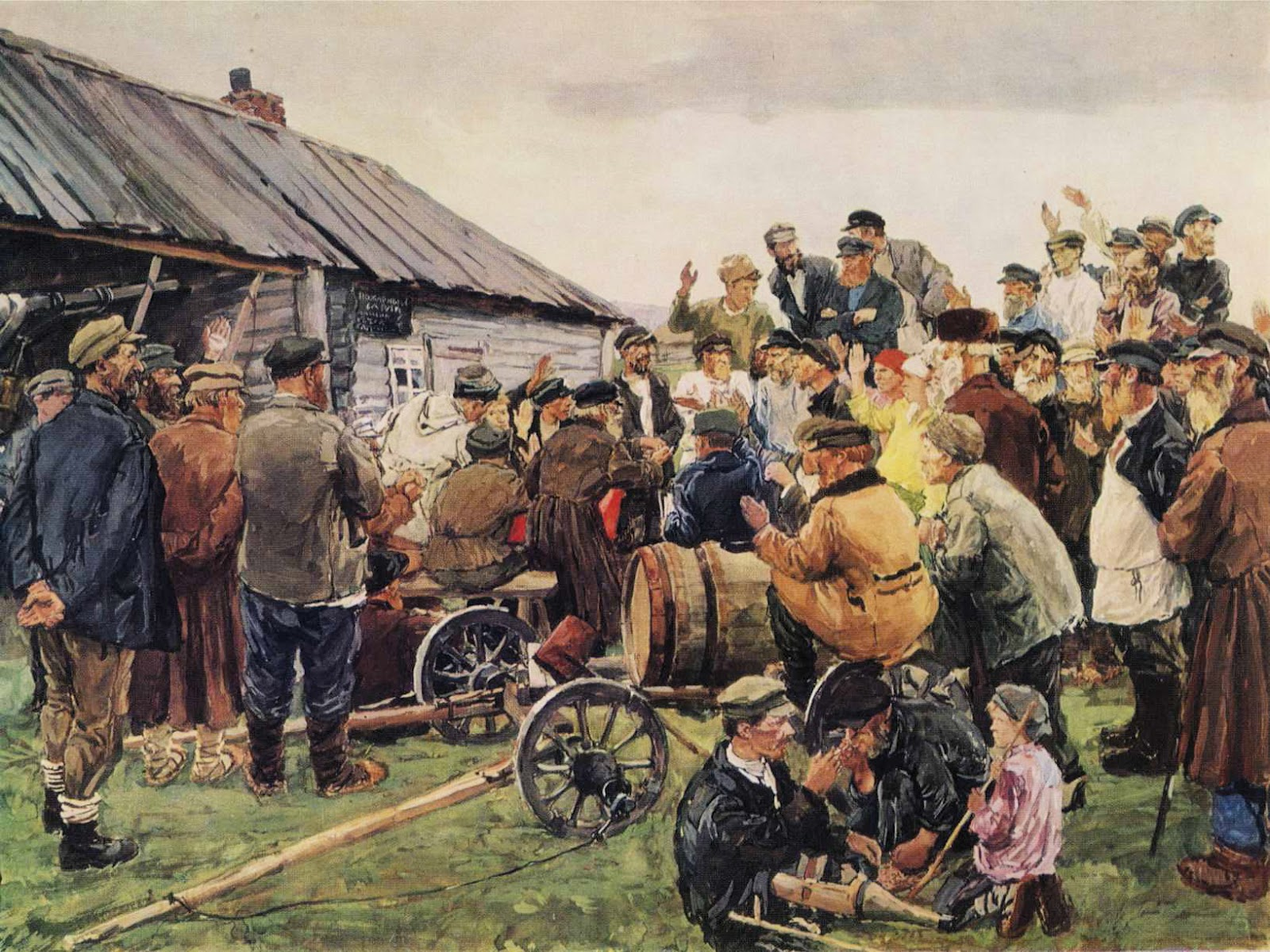 arkady-plastov-elections-to-the-committee-of-poor-peasants